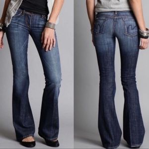 EUC Citizens of Humanity fringe flare jeans 25